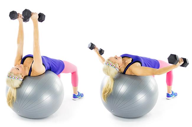 Упражнение на развитие грудных мышц, трицепсов и мышц кора